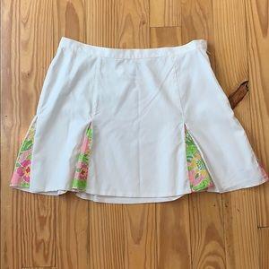 Lily Pulitzer White Tennis Skirt